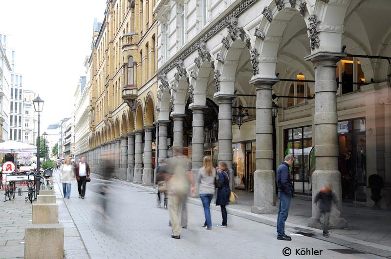 die denkmalgeschützten Colonnaden in Hamburg, Foto: © Köhler