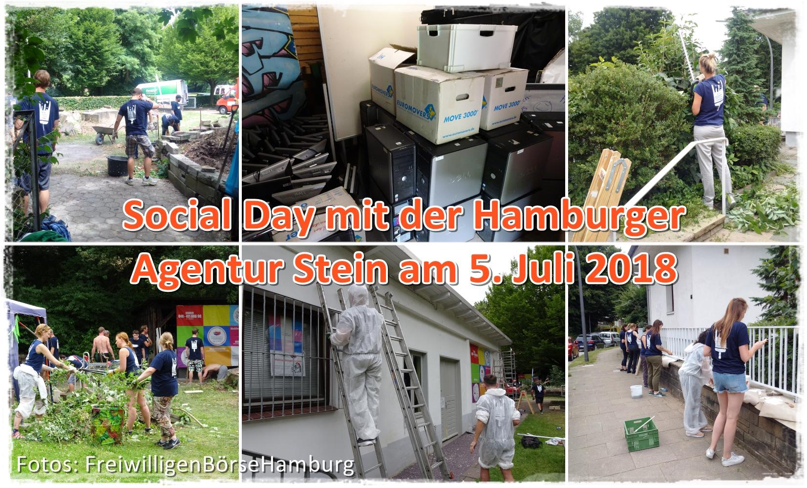 Social Day: FreiwilligenBörseHamburg und Agentur Stein