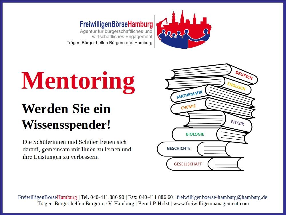 Ehrenamtliche Mentoren gesucht in Hamburg