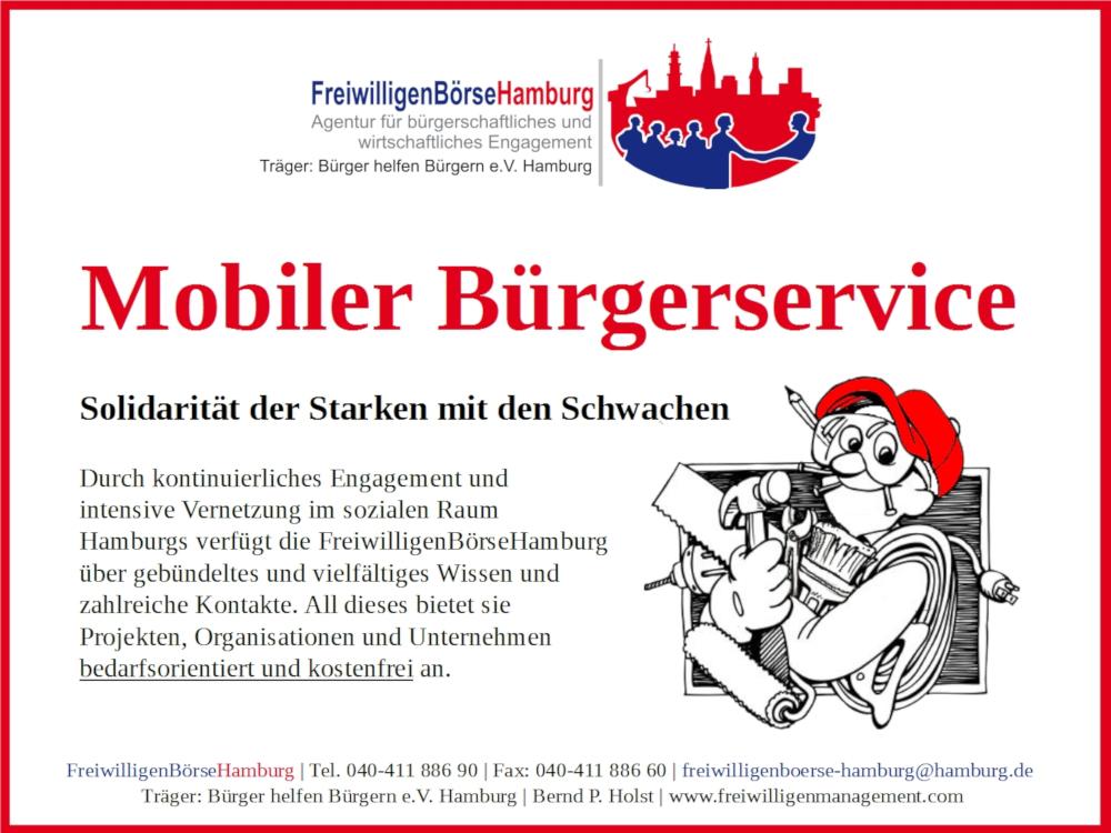 Mobiler Bürgerservice Nachbarn stärken Nachbarn in Hamburg