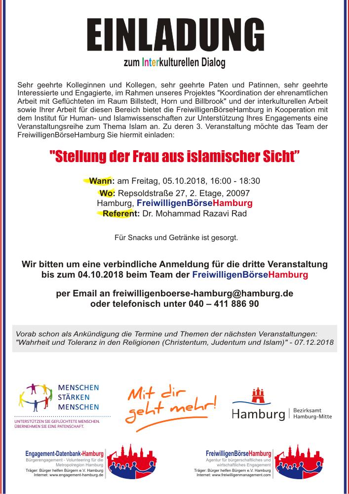 Interkultureller Dialog - Stellung der Frau aus islamischer Sicht