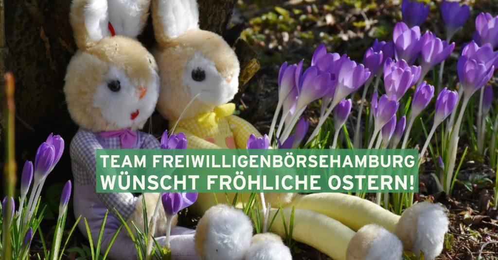 Team FreiwilligenBörseHamburg wünscht fröhliche Ostern!